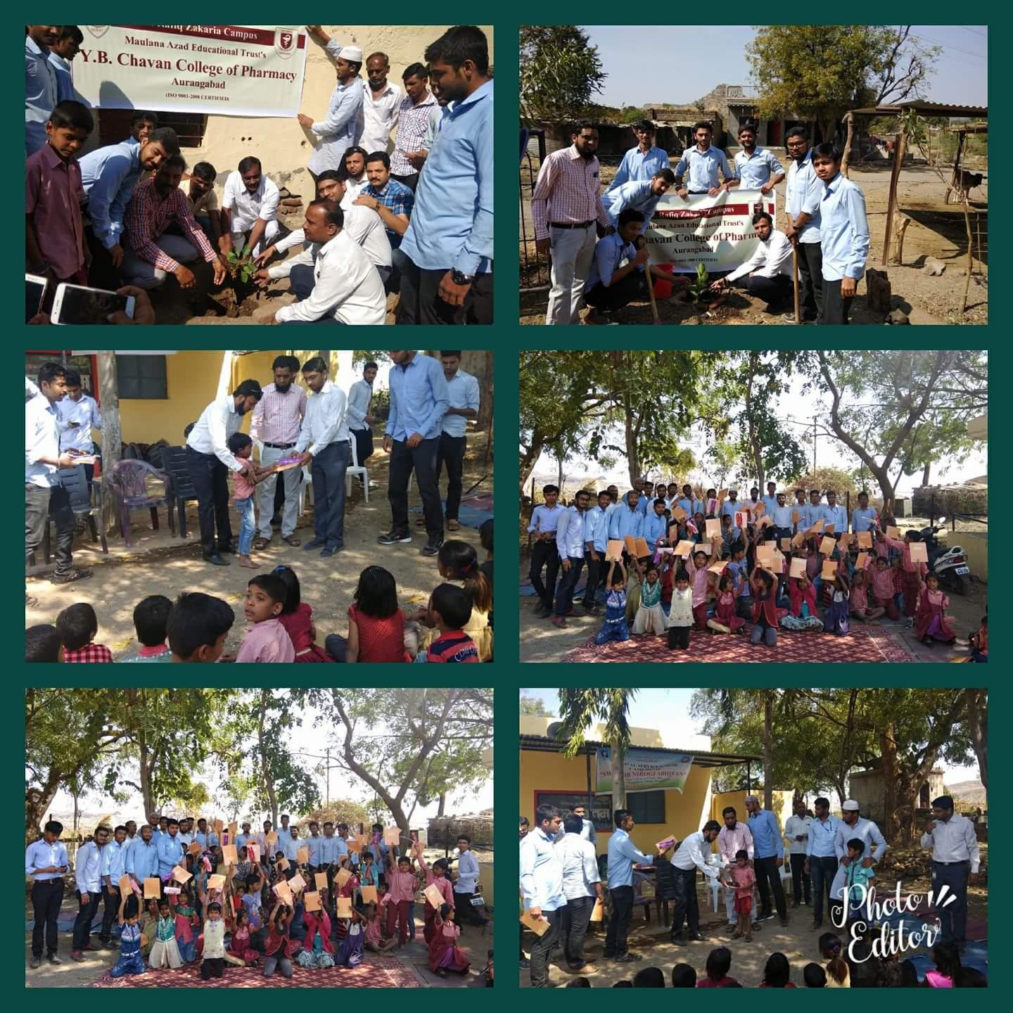 Tree Plantation and Stationary Distribution to zp school students of Dhopteshwar